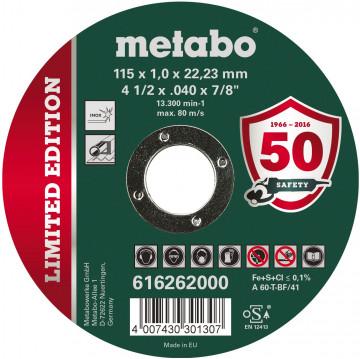 METABO - LIMITOVANÁ EDICE 115 X 1,0 X 22,23 INOX, TF 41 (616262000)