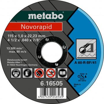 METABO - Novorapid 115 x 1,0 x 22,23 mm, ocel, TF 41 - 616505000