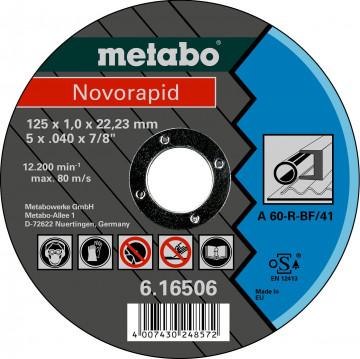 METABO - Novorapid 125 x 1,0 x 22,23 mm, ocel, TF 41 - 616506000