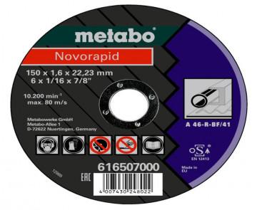METABO - Novorapid 150 x 1,6 x 22,23 mm, ocel, TF…