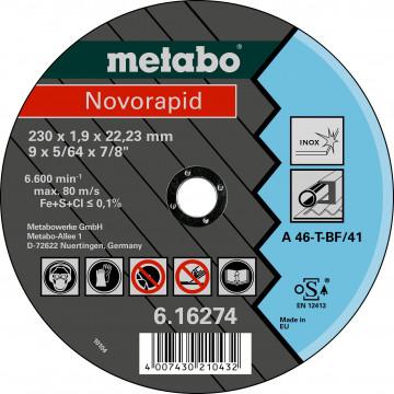 METABO - NOVORAPID 230X1,9X22,23 INOX, TF 41 (616274000)