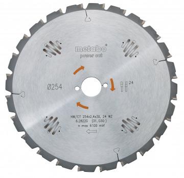 Metabo Pilový kotouč HW/CT 250x30, 24 SZ 3° záp.