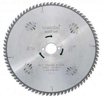 METABO - Pilový kotouč HW/CT 250x30, 80 SZ, 10°