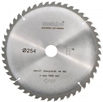 Metabo Pilový kotouč HW/CT 254x30, 48 SZ 5° záp.,classic