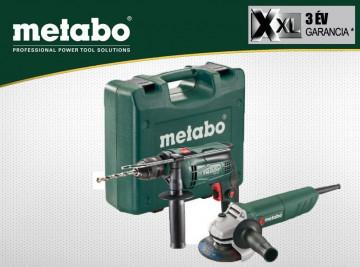 METABO Elektrická příklepová vrtačka 650 W SBE 650 + úhlová bruska 750 W W 750-125
