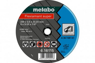 METABO - Fleximant super 115X3,0X22,23 ocel, TF 42 (616104000)