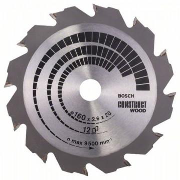 Pilový kotouč Construct Wood 180 x 30/20 x 2,6 mm; 12 BOSCH 2608640632