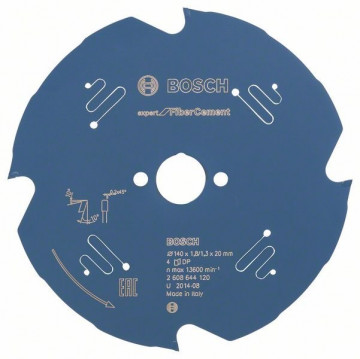 Pilový kotouč Expert for Fiber Cement 140 x 20 x 1,8 mm, 4 BOSCH 2608644120