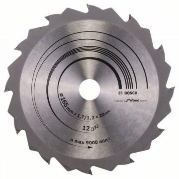 Pilový kotouč Speedline Wood 165 x 20/16 x 1,7 mm, 12 BOSCH 2608642600
