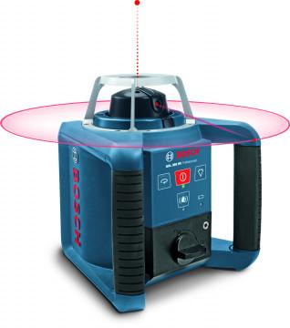 Stavebné rotačný laser + statív + meracie latu BOSCH GRL 300 HV set + BT 300 HD + GR 240 061599403Y