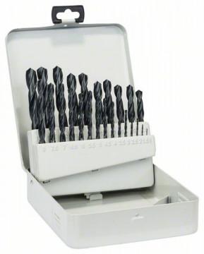Sada vrtáků do kovu HSS-R v kovové kazetě, 25dílná, DIN 338 1-13 mm BOSCH 2607018725