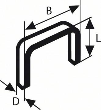 Sponky do sponkovačky ztenkého drátu, typ 53, nerezové Typ 53; L = 8 mm BOSCH 2609200215