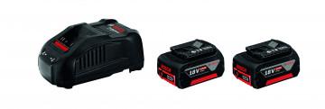 Akumulátor + nabíječka BOSCH 2x GBA 18V 6,0Ah + GAL 1880 CV PROFESSIONAL 1600A00B8L