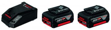 Akumulátor + nabíječka BOSCH 2x GBA 18V 4,0Ah +…